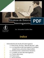 Técnicas de Entrevista e Interrogatorio.