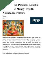 Top 10 Most Powerful Lakshmi Mantra for Money Wealth Abundance Fortune