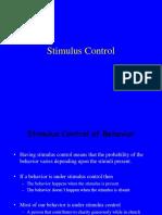 stimulus control and generalization .ppt