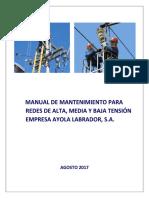 345118945 Manual de Mantenimiento Para Redes de Alta Media y Baja Tension