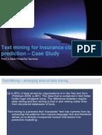 Case Text Mining Insurance Company