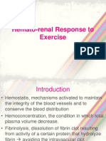 Hematorenal Response to Exercise