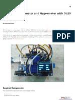 Arduino Thermometer Hygrometer Oled Display