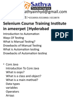 Selenium course training institute ameerpet hyderabad