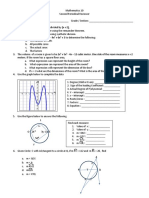 Practice Test Mathematics 10