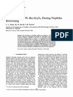 Chlorination of Pt–ReAl2O3 During Naphtha Reforming