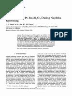 Chlorination of Pt–ReAl2O3 During Naphtha Reforming