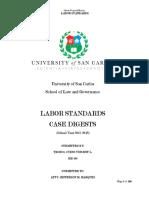 Labor Standards Midterm Case Digests