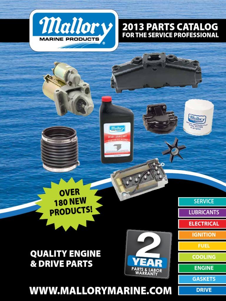 Mallory Marine 2013 Product Catalog | Carburetor | Fuel Injection on