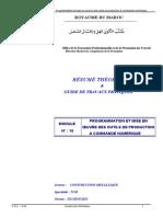 M10_Programmation Et Mise en Oeuvre Des Outils de Production à Commande Numérique