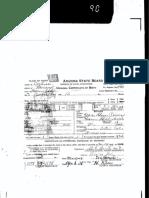 Baby Girl Rainey Birth Certificate 15 March 1919