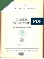 claudio monteverdi und das musikalische drama