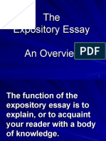 The Expository Essay - An Overview