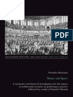 Dorothea Baumann - Music and Space, a Systematic and Historical Investigation Into the Impact of Architectural Acoustics on Performance Practice