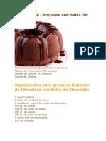Bizcocho de Chocolate Con Salsa de Chocolate
