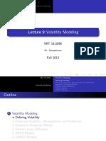 Vol Modeling (ARCH, GARCH, LR Etc.)