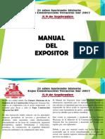 Manual Para Expositor 2017
