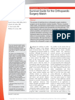 Survival Guide for the Orthopaedic Surgery Match.3