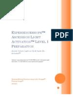 EXPERIENCESHOPS™ ASCENSION LIGHT ACTIVATION™ LEVEL 1 PREPARATION