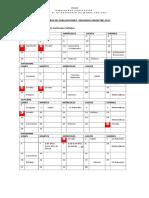 Calendario de Evaluaciones II Semestre 6to A