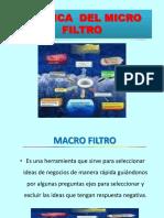 Macro y Micro Flitro