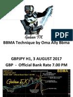 GBPJPY H1 - Nota Bbma Gaban Fx