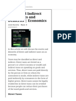 Direct and Indirect Tax Merits and Demerits Economics