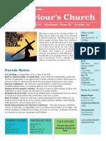st saviours newsletter - 3 sept 2017