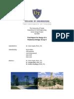Final Report - Design of a Pedestrian Bridge - Fall 2009.pdf