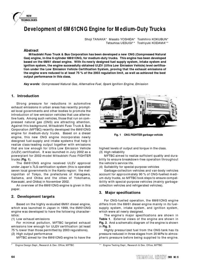 Mitsubishi 6M61CNG | Diesel Engine | Throttle