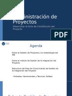 Desarrollar El Acta de Constitución Del Proyecto