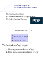 state Transition Matrix