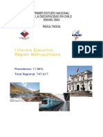 Informe Región Metropolitana