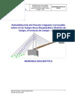 Memoria Descriptiva - Puente Huantashiri