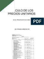 Costos Unitarios Para Proyectos