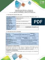 Guía de Actividades y Rúbrica de Evaluación - Fase Inicial - Reconocimiento Guía y Rubrica