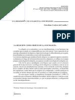 Dialnet La Religion Y Su Lugar En La Sociologia