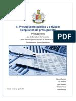 Presupuesto Público y Privado