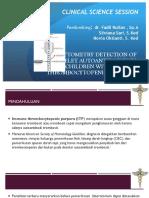 Ppt Jurnal ITP imun trombositopenia purpura
