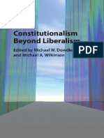 Michael W. Dowdle, Michael a. Wilkinson Constitutionalism Beyond Liberalism