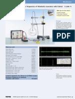 Resonance Frequencies of Helmholtz Resonators With Cobra3