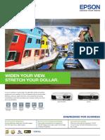 Epson EB-SWX Series Brochure