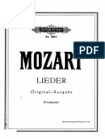 Mozart - Lieder (Tonalidad Original)
