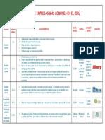 Tipos de Empresas Más Comunes en El Perú