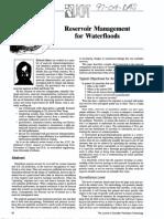 Reservoir Management for Waterfloods