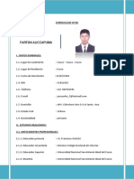 Curriculum Vitae Percynho