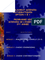 """Cours Analyse Fonctionnelle Sciences de l'Ingénieur 2ème année Sciences Maths""""B"""""""