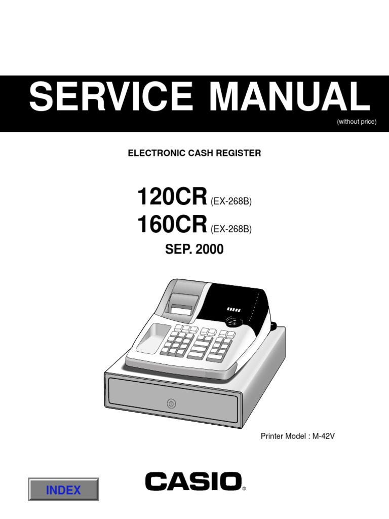 Casio 120cr and 160cr service manual pdf the checkout tech store.