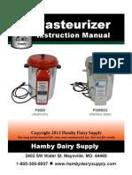 Pasteurizer MANUAL