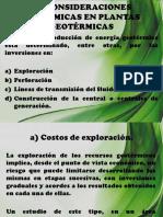 4.2 Consideraciones Economicas en Plantas Geotermicas